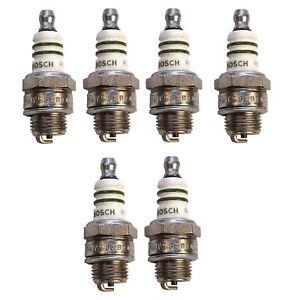 Set of 6 Bosch Spark Plug 7538 For Fiat Crosley Volvo Jeep Willys Allstate 42-72