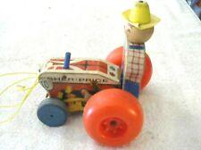 Rare Old Vintage Original Fisher Price Tractor # 629 1962