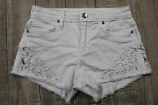 da23a9f2d771a NEW Joe s Cut Off Floral Cut Out Premium Denim Shorts in Lemley White - 26