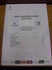14/09/2011 Manchester City V NAPOLI [UEFA CHAMPIONS LEAGUE] Ufficiale/Originale UE