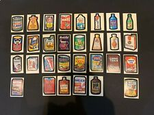 1973 Topps Wacky Packages 1st Series 1 Complete Sticker Card Set 30/30 EX