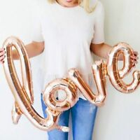 "30"" Rose Gold Love Balloon Foil Helium Script For Wedding, Engagement, Hen Party"