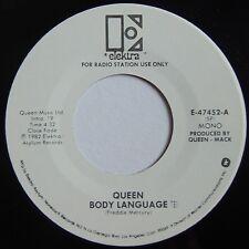 QUEEN: BODY LANGUAGE rare DJ PROMO 45 MONO / STEREO clean NM top!