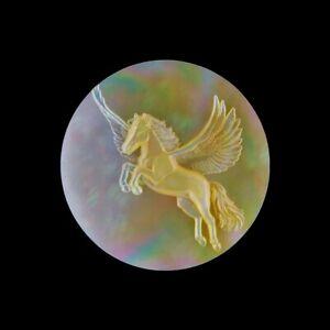 Carved MOP Pegasus CAB HB100006