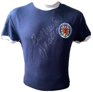 Signed Jim McCalliog Scotland Home Shirt Manchester United Southampton Wolves