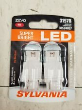 Sylvania ZEVO 3157R Brightest For Red Lens 6000K LED 3057/4057  Bulbs New/Sealed