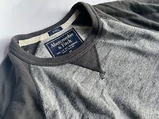 ABERCROMBIE & FITCH Cooles grau meliertes Sweatshirt Gr.XS