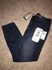 Women's Size 4 Seven 7 Dark Blue High Rise Ankle SKINNY Denim Jeans