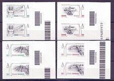 2015 Leonardesca - Italia - coppie con codice a barre 1693 1694 1695 1696
