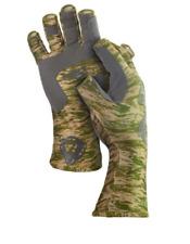 "Fish Monkey Half Finger Gloves ""Green Water Camo"" Large"