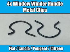 4x Window Winder Handle Metal Clips For Fiat Lancia Peugeot Citroen 4138439