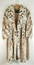 BEAUTIFUL LYNX FULL LENGTH FUR COAT - GENUINE AND AUTHENTIC, HIGH QUALITY FUR