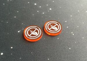 X-Wing 2.0 compatible, acrylic disarm tokens - translucent series