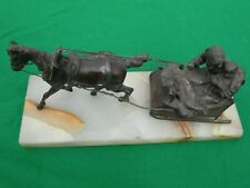 Russian metal model of a horse and sledge, about1870