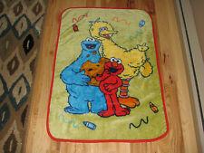 Elmo Big Bird Cookie Monster Plush Blanket Throw Baby Sesame Street Furry Crayon