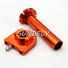 "7/8"" Orange Motorcycle CNC Accelerator Handle Bar Control Grip Throttle Twist"