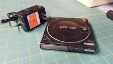 1987 Vintage Sony Discman D-10/D-100 w/ AC Adapter RARE CD Player Japan Metal