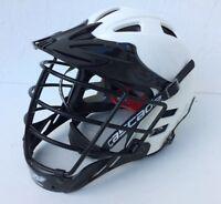 Cascade Lacrosse Field Hockey CLH2 Adjustable MLL Official Helmet White Black