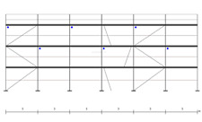 Gerüst Typ Plettac 153 qm mit Durchtieg Stahlrahmen mit DEUTSCHER ZULASSUNG!