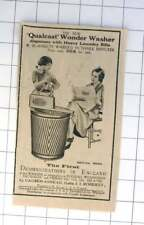 1932 First Demonstrations In England Causewayhead Qualcast Wonder Washer