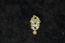 "Antique/Vintage Hand Carved Jade Interlocking  Or ""Lock"" Pendant!"