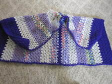 "HANDMADE CROCHET ""LAPGHAN"" OR SHAWL MULTI COLORS 40"" X 30"""