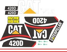 Caterpillar 420D Backhoe Decals / Adhesives / Stickers Complete Set