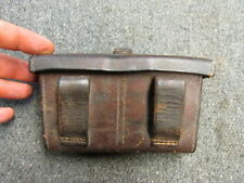 WWII JAPANESE ARMY FRONT AMMO POUCH-FOR ARISAKA RIFLES-LEATHER-ORIGINAL