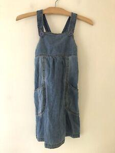 Target Girls Dress Sz 6 NWT Denim Pinafore Pockets Layering