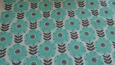 New-100% Cotton-Micheal Miller-Fabrics-Libby-Turquoise/Grey/White Floral Design
