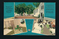 LaFayette Louisiana LA c1940s Azalea Court Tourist Cabins Motel, Cafe, US Hwy 90