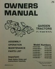 MTD Lawn Garden Tractor Owner & Parts Manual 36p Riding 11,16, 18hp Mower Briggs