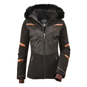 Women's KILLTEC Wasilla Insulated Ski Snow Jacket Zip-Off Hood Snowcatcher Coat