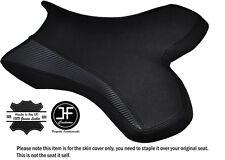 Puntada Negro Carbón Agarre Personalizado Se Ajusta Yamaha 1000 YZF R1 04-06 Cubierta de asiento delantero