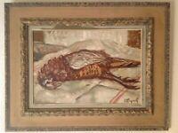 FERNAND MAJOREL (1898-1965) Nature morte au Faisan Huile sur Toile signée