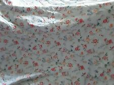 V&a Blue Floral Quilted Bedspread/cover/throw,king Size