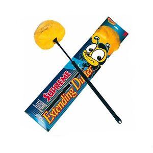 Supreme Extending Duster, electrostatic. yellow head, bee logo Neat Ideas