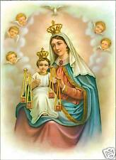 Catholic Print Picture Mary Jesus w/ Scapular Mt.Carmel ready to be framed