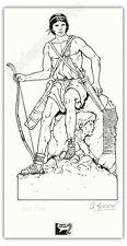 Ex-libris Hervan Les voyages d'Alix Archer 300ex signé 11x21,2