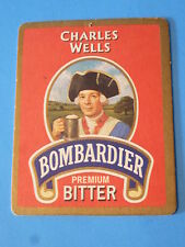 BEER COASTER MAT: Charles Wells Premium Bitter - Eagle Brewery - Bedford England