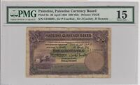 Palestine Currency Board British Mandate 500 Mils 1939 P6c Fine PMG15 Israel