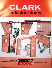 CLARK Industrial Doors Door Catalog ASBESTOS Fire Chief 1979