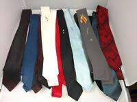 Vtg Men's Skinny Neck Tie Lot 12 Ties 1950's 1960's Mad Men New Wave Rockabilly