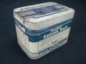 Vintage Puretest Epsom Salt 3 oz. Tin Rexall Store United Drug Company