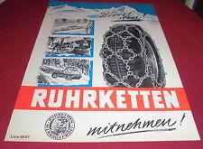 dachbodenfund prospekt ketten ruhrketten kfz lkw schneeketten liste 1966/67 deko
