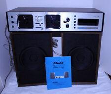 Miida 2020 Tabletop Console Stereo AM/FM 8 Track + Speakers + Original Manual
