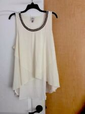 New Knox Rose - Cream Color/Cream Beaded Front Women Tunic Top Plus Size 2X