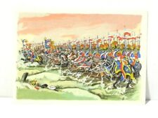 French Army Military Art Print Imperial Guard Lancers 1810 Greetings Card #RG3