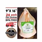 """POULTRY SHRINK BAGS 9"""" X 16"""" CHICKEN DUCK PROCESSING BPA FREE FREEZER SAFE"""