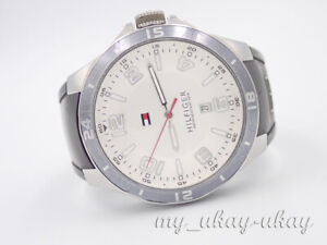 TOMMY HILFIGER TH1841271273  Silver Dial Silicon Band Men's Date Watch